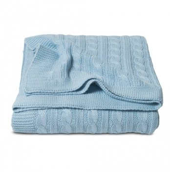 Плед Cosas Косы синий 75x95 см