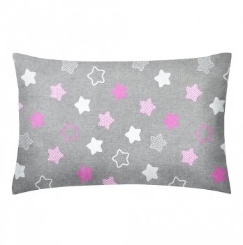 Детская наволочка бязь Cosas Stars Pink 60х40 см