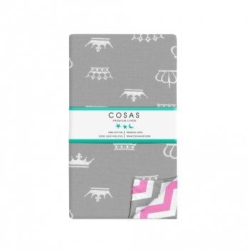 Детский пододеяльник Cosas Crown Grey Zigzag 110х140 см
