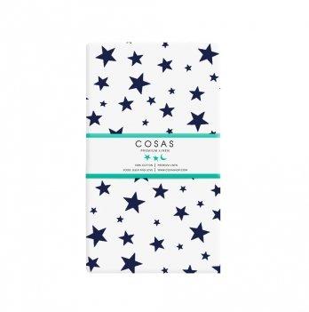 Простынь на резинке бязь Cosas Star White Blue 60х120 см