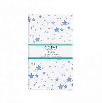 Простынь на резинке бязь Cosas Star Fall Blue 60х120 см