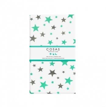 Простынь на резинке бязь Cosas Star Mint 60х120 см