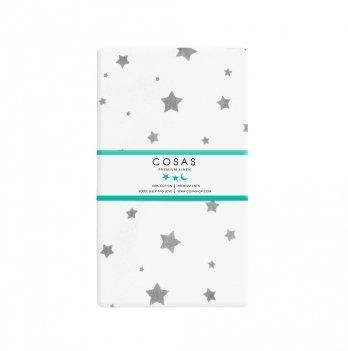 Простынь на резинке бязь Cosas Star Grey 60х120 см
