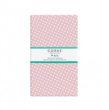 Простынь на резинке бязь Cosas Горох розовый 60х120 см