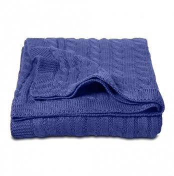 Плед Cosas Косы темно-синий 75x95 см
