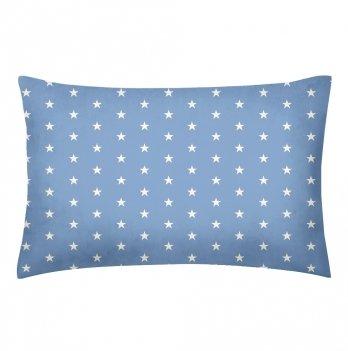 Детская наволочка бязь Cosas Stars Blue 60х40 см