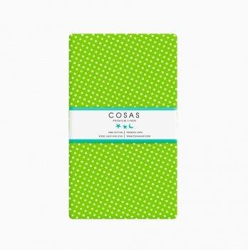 Простынь на резинке бязь Cosas Горох зеленый 60х120 см