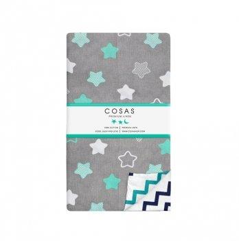 Детский пододеяльник Cosas Stars Mint 110х140 см