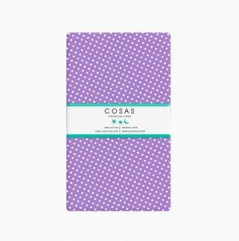 Простынь на резинке бязь Cosas Горох фиолетовый 60х120 см