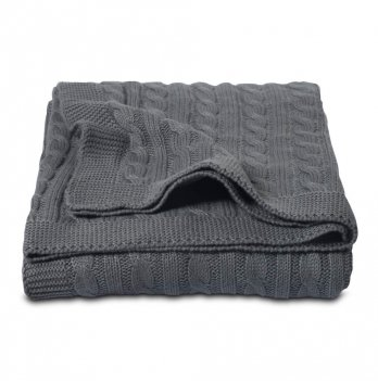 Плед Cosas Косы темно-серый 75x95 см