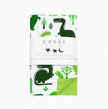 Детский пододеяльник Cosas Dino Green 110х140 см