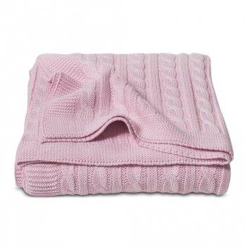 Плед Cosas Косы розовый 75x95 см