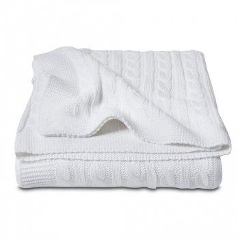 Плед Cosas Косы белый 75x95 см