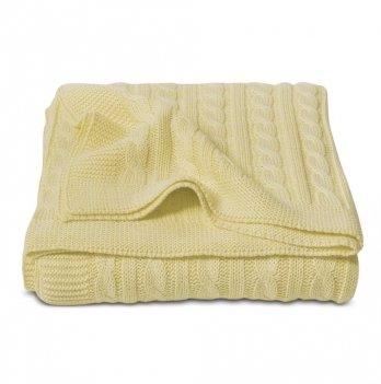 Плед Cosas Косы желтый 75x95 см