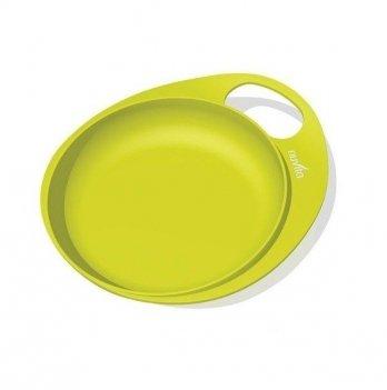 Тарелка мелкая для кормления Nuvita Easy Eating, 2шт., салатовая