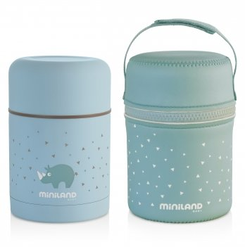 Термос для пищи Miniland Baby, SILKY FOOD THERMOS BLUE 600ML