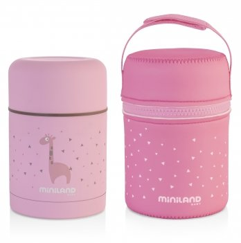 Термос для пищи Miniland Baby, SILKY FOOD THERMOS PINK 600ML