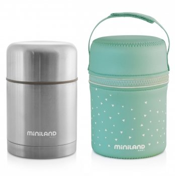 Термос пищевой Miniland Baby, STEEL FOOD THERMOS 600ML