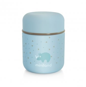 Термос пищевой Miniland Baby Silky Food Thermos mini blue 280 мл + термосумка