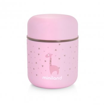Термос пищевой Miniland Baby Silky Food Thermos mini pink 280 мл + термосумка