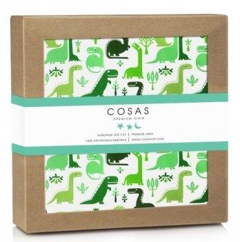 Непромокаемый наматрасник Cosas Water Sheet Dino Green 70х120 см