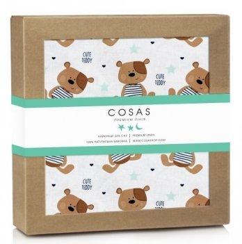 Непромокаемая пеленка Cosas Bear Teddy 70х120 см