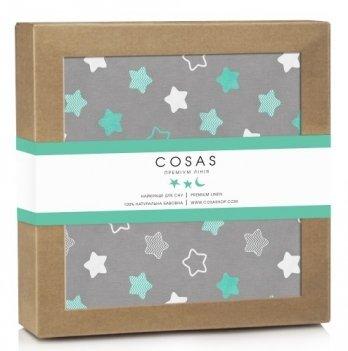 Непромокаемая пеленка Cosas Diaper Cookie Mint 70х120 см
