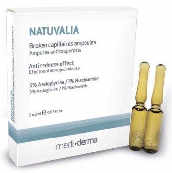 Сыворотка для кожи Sesderma Natuvalia, с антикуперозным эффектом, 5 х 2 мл