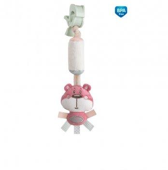 Игрушка плюшевая с колокольчиком Canpol babies Pastel Friends Розовый 68/066