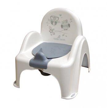 Горшок-стульчик музыкальный Tega baby Сова Белый PО-064-103