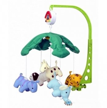 Мобиль в кроватку Canpol babies Веселые зверушки, плюшевый