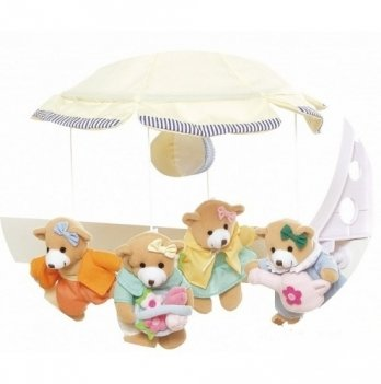 Мобиль в кроватку Canpol babies Медвежата-девочки, плюшевый