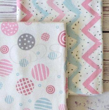 Подарочный набор пеленок Маленькая Соня Мячики розовые, 2 шт.
