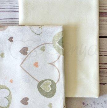 Подарочный набор пеленок Маленькая Соня Сердечки беж, 2 шт.