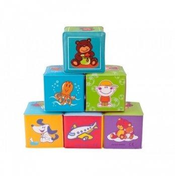 Кубики Canpol babies мягкие развивающие, 6 шт.
