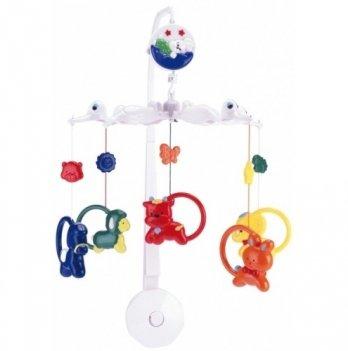 Мобиль в кроватку Canpol babies Зверушки с кольцами, пластиковый