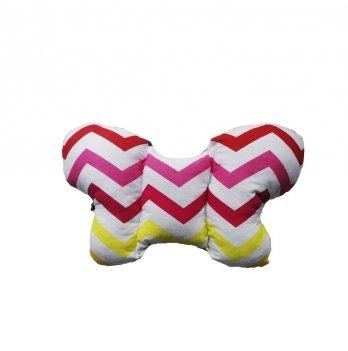 Подушка в коляску Merrygoround, Zigzag red