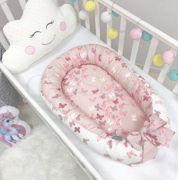 Кокон для новорожденных Маленькая Соня Baby Design Бабочки Розовый 5020222