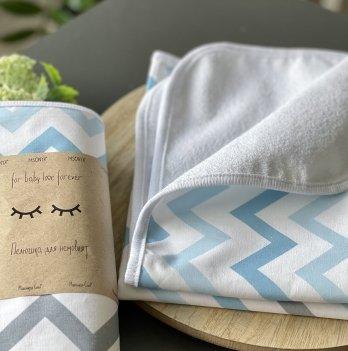 Непромокаемая пеленка для детей Маленькая СоняЗигзаг серо-голубойСерый/Голубой11576