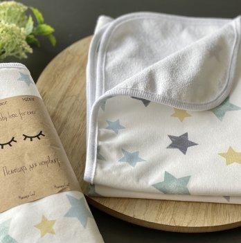 Непромокаемая пеленка для детей Маленькая СоняЗвезды акварельные мятаБелый/Мятный115704