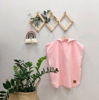 Детское полотенце пончо с капюшоном Маленькая Соня Муслин Розовый 1006609