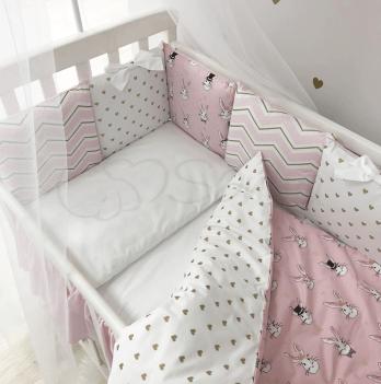Комплект постельного белья Shine Алиса простынь с юбкой Маленькая Соня 0247335 розовый 6 предметов