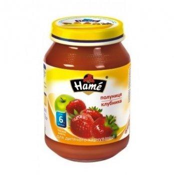 Пюре фруктовое Hame яблоко и клубника 190 г