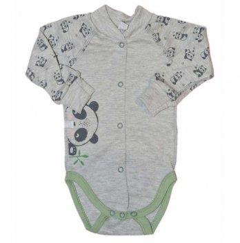 Бодик для новорожденных с длинным рукавом Sweet Mario Серый 09-10-4