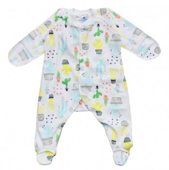 Человечек для новорожденного Minikin I Like 0-3 месяца Молочный/Зеленый 2010603