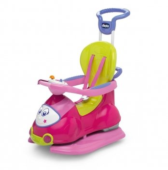 Автомобиль-качалка Quattro 4 в 1 Chicco 60703.10 розовий