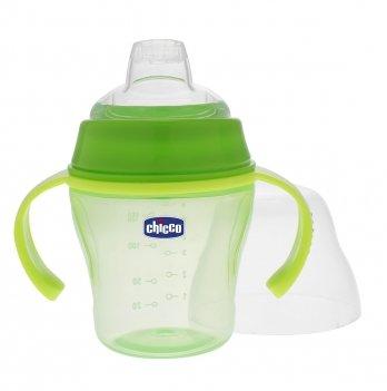Чашка для прогулок Soft Cup Chicco, зелёная