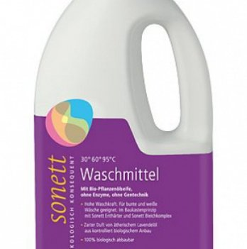 Органическое жидкое стиральное средство с эфирным маслом лаванды Sonett. Концентрат. 2л