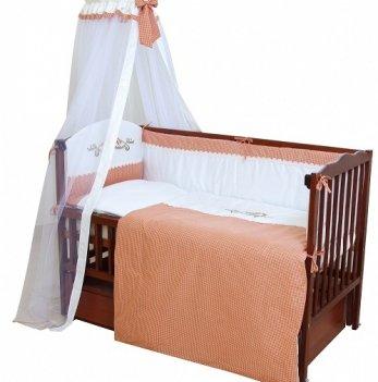 Детская постель Twins Etno Птички E-002 теракотовый
