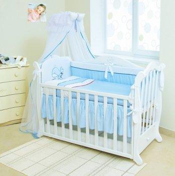 Детская постель Twins Evolution 7 элементов Рыба Кит A-022 голубой